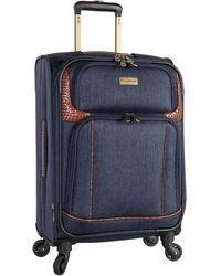 Tommy Bahama Royce 19.5-inch Expandable Spinner Suitcase - Blue