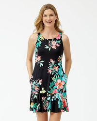 Tommy Bahama - Fleur De Flora High-neck Flounce Dress - Lyst