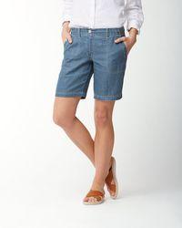 Tommy Bahama - Sea Glass 10-inch Linen Bermuda Shorts - Lyst