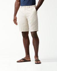 Tommy Bahama Big & Tall Linen The Good Life Elastic-waist Shorts - Natural