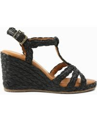 Tommy Bahama André Assous Madina Wedge Sandals - Black