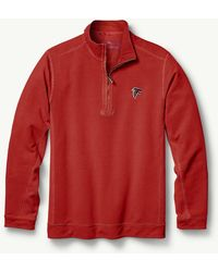 Tommy Bahama - Big & Tall Nfl Ben & Terry Coast Half-zip Sweatshirt - Lyst