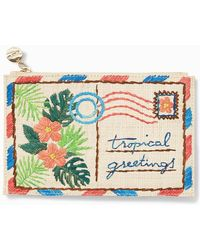 Tommy Bahama Greetings From Paradise Zip Pouch - Multicolor