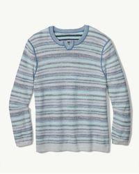 Tommy Bahama Sandy Bay Stripe Abaco Sweater - Blue