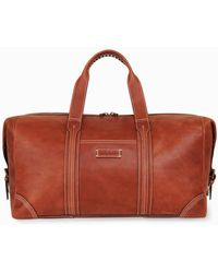 Tommy Bahama Leather Duffel Bag - Brown