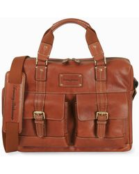 Tommy Bahama Leather Briefcase - Brown