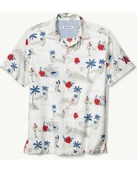 Tommy Bahama - Mlb® Load The Palms Stretch-cotton Camp Shirt - Lyst