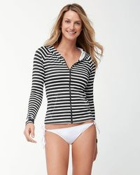 Tommy Bahama   Breton Stripe Long-sleeve Full-zip Rash Guard   Lyst