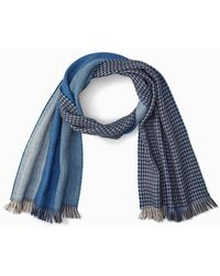 Tommy Bahama Reversible Wool Scarf - Blue