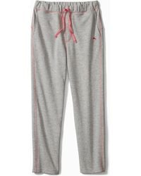 Tommy Bahama Big & Tall French Terry Knit Pants - Gray