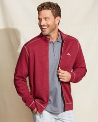Tommy Bahama Tobago Bay Full-zip Sweatshirt - Red