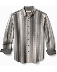 Tommy Bahama Big & Tall Surf Springs Stripe Stretch Shirt - Black