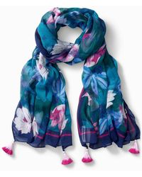 Tommy Bahama Lotus Dance Scarf - Blue