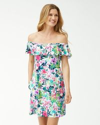 Tommy Bahama - Fleur De Flora Off-the-shoulder Dress - Lyst