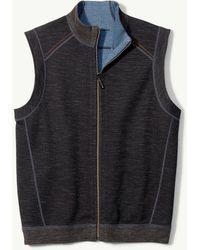 Tommy Bahama Big & Tall Flipsider Reversible Full-zip Vest - Black