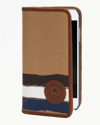 Tommy Bahama Paint Stripe Canvas Iphone Wallet - Brown