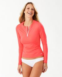 Tommy Bahama Pearl Half-zip Rash Guard - Multicolor