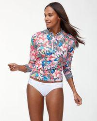 Tommy Bahama Petals Of Paradise Long-sleeve Rash Guard - Multicolor