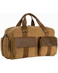 Tommy Bahama Palawan Canvas & Leather Weekender Bag - Brown