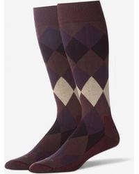 18161c106c07 Perry Ellis Mens Stay Dry Comfort Chevron Design Crew Socks in Black for  Men - Lyst