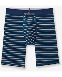 Tommy John Second Skin Boxer Brief, Stripe - Blue