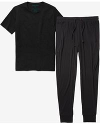 Tommy John Second Skin Lounge Jogger And Tee Pack - Black