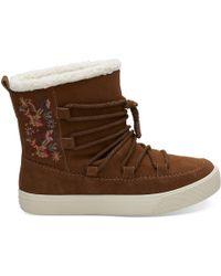 TOMS - Dark Amber Suede Women's Alpine Boots - Lyst