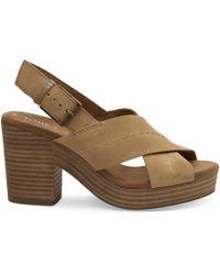 af916eacbba7 Kate Spade  honey  Glitter Block Heel Suede Sandals in Black - Lyst