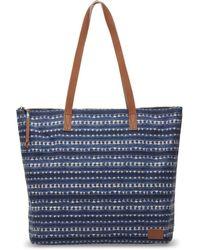 TOMS | Navy Batik Stripe Textile Cosmopolitan Tote | Lyst