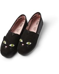 TOMS Black Cat Glow In The Dark Women's Classics Ft. Ortholite