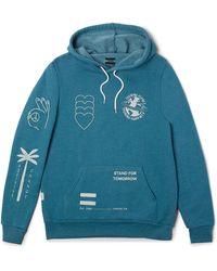 TOMS Multi Graphic Fleece Hoodie - Blue