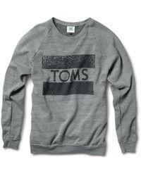 TOMS - Crew Neck Sweatshirt - Lyst