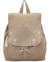 TOMS - Taupe Suede Embroidered Poet Backpack - Lyst