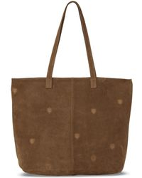 TOMS - Toffee Suede Embroidered Cosmopolitan Tote - Lyst