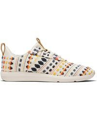 TOMS Natural Woven Cabrillo Lace Up Womens Sneaker