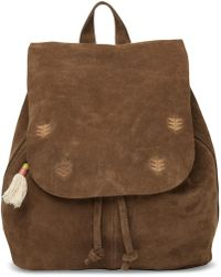 TOMS - Toffee Suede Embroidered Poet Backpack - Lyst