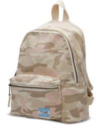 TOMS - Birch Camo Vivian Mini Backpack - Lyst