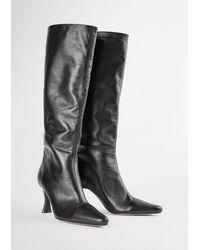 Tony Bianco Kyle 8cm Calf Boots - Black