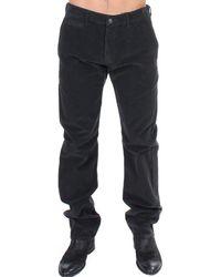 Gianfranco Ferré Corduroy Cotton Straight Fit Trouser Black Sig11087