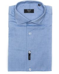 19v69 Italia Shirt Blue 191395013