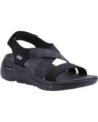 Skechers Go Walk Arch Fit Astonish Summer Sandal - Black