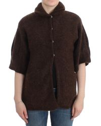 Cavalli Brown Mohair Knitted Cardigan
