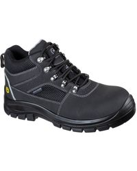 Skechers Unisex Trophus Letic Safety Boot Black 32622
