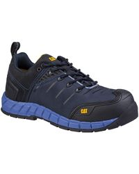 Caterpillar Byway Lace Up Safety Trainer Blue 27804