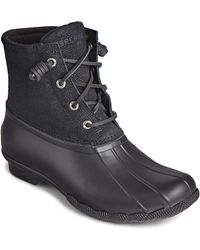 Sperry Top-Sider Saltwater Mid Boot Black 32236