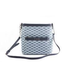 Michael Kors Morgan Signature Canvas Medium Crossbody Bag Blue 50925