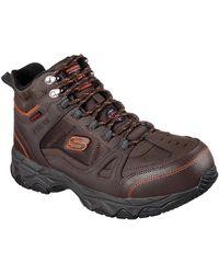 Skechers Unisex Ledom Safety Boot Black 32313 - Brown