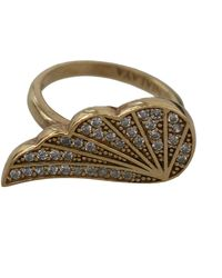 Nialaya Wing Clear Cz 925 Authentic Ring Gold Ny104 - Metallic