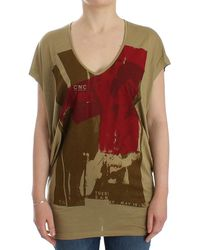 CoSTUME NATIONAL Print Ss Top Green Sig12534 - Multicolor
