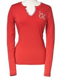 Caterpillar Signature Ls T-shirt Gerani 20775 - Red